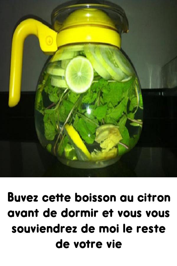 Buvez cette boisson au citron avant de dormir et vous vous