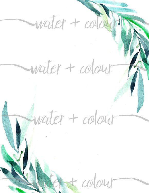 Watercolor Leaves Border Watercolor Leaves Leaf Border Watercolor