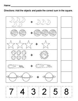 Space Themed ELA Math and Science Activities for PreK and ...