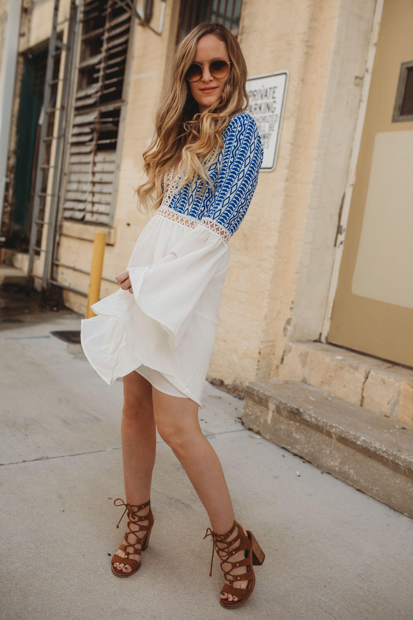 Boho summer outfit upbeat soles orlando florida
