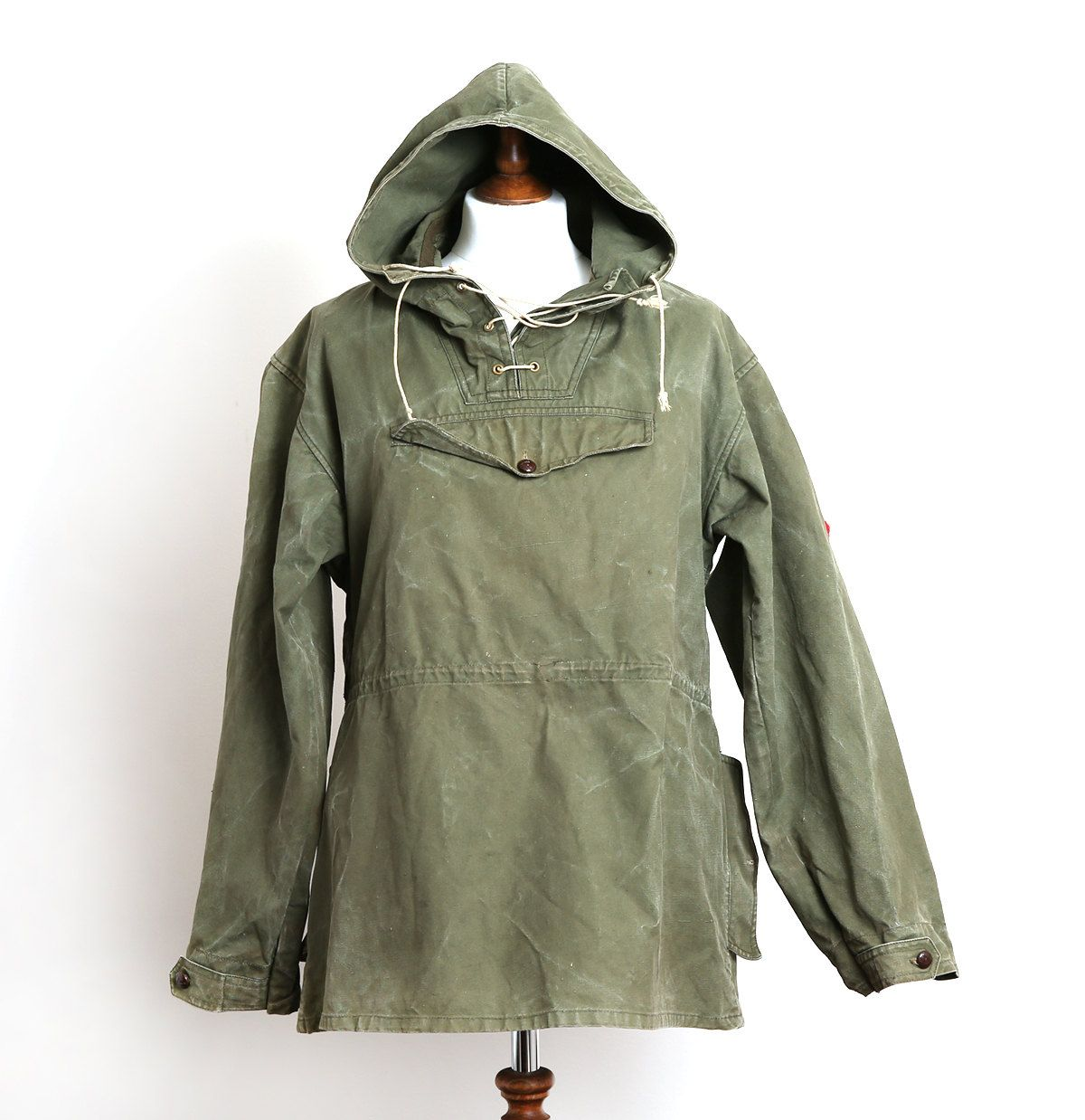 1867edca9b5 Vintage 1970 s Military Green Canvas Anorak vintage anorak military army  anorak canvas anorak vintage green anorak USSR army vintage gifts for him  USSR ...