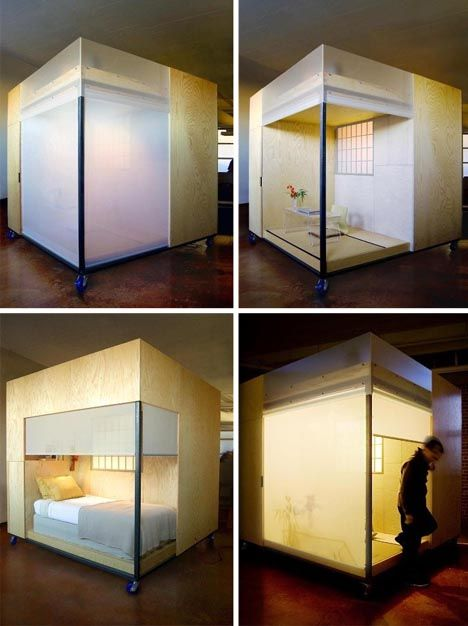 Japanese Home In House, Small Multifunctional Living Cube