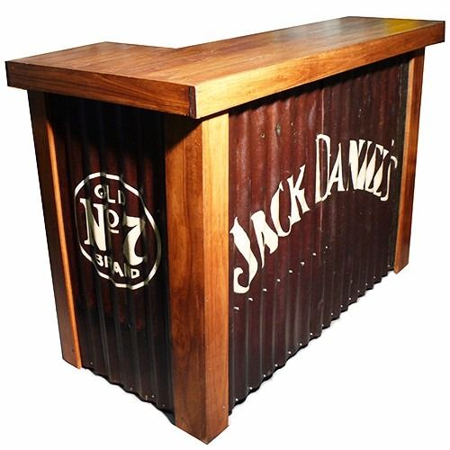 Barra bar arrime 100x49x100cm madera reciclada mostrador b03 barra bar mostradores y madera - Barra bar madera ...