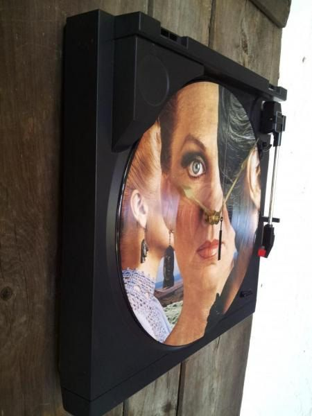 Styx Turntable Clock Retro Rock Band Clock by WildGooseChase, $126.00