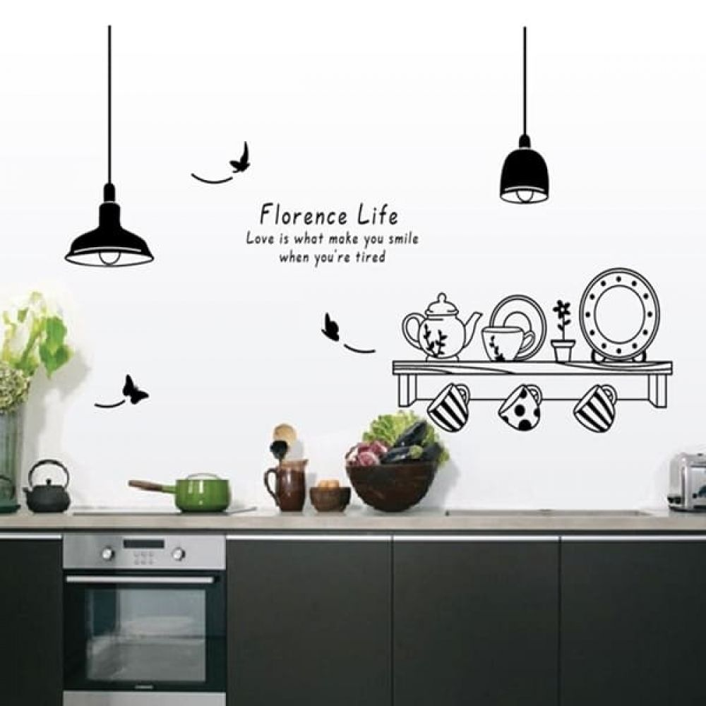 Removable Wall Stickers For Kitchen Buy Kitchen Goods Online At Kitchenshinny Kitchen Wall Decals Kitchen Wall Stickers Sticker Decor