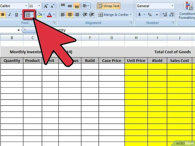 Create an Inventory List in Excel Cost of goods, List