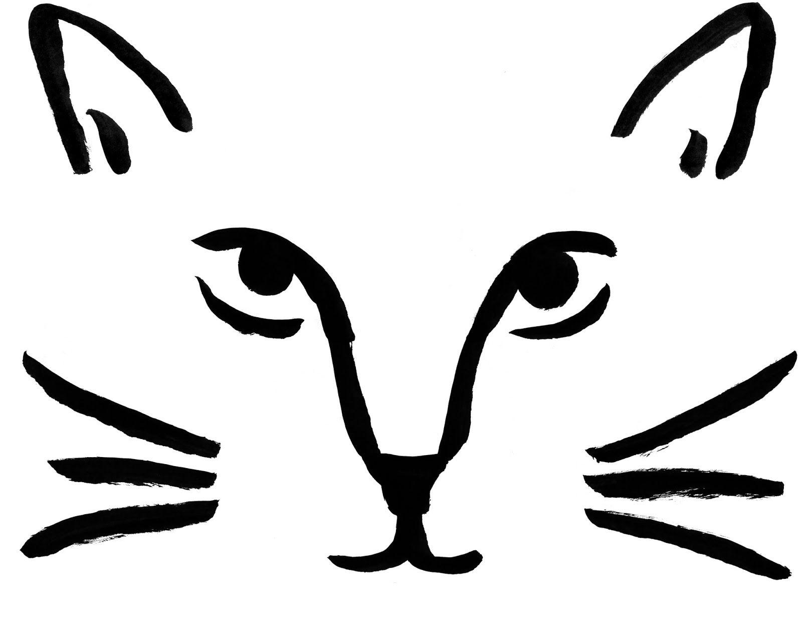 Download Cat face pumpkin carving pattern stencil template designs ...