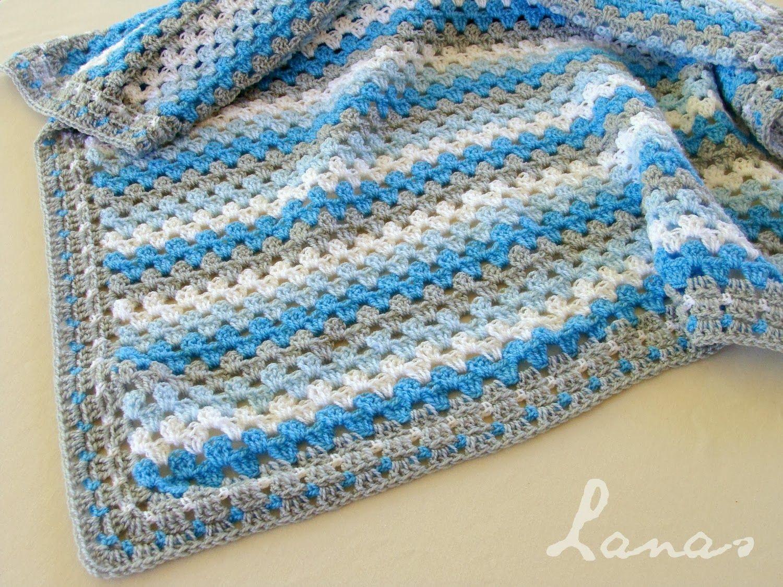 Lanas de Ana: 2 Blankets with Granny Stripes   Crochet colour ...