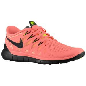 nike free 5.0 2014 - womens bright mango/volt/peach