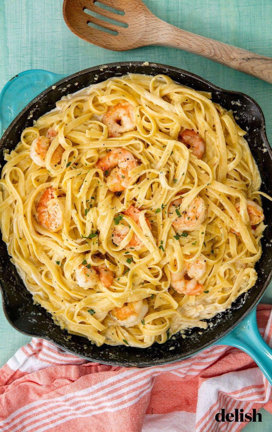 Shrimp Fettuccine Alfredo #shrimpfettuccine