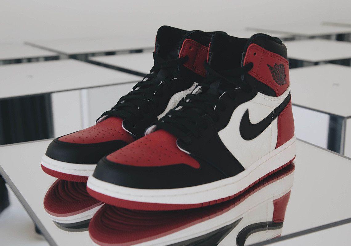 Foot Locker Reveals Air Jordan 1 Bred Toe Is A Mega Gr Air Jordans Shoe Poster Jordan Swag