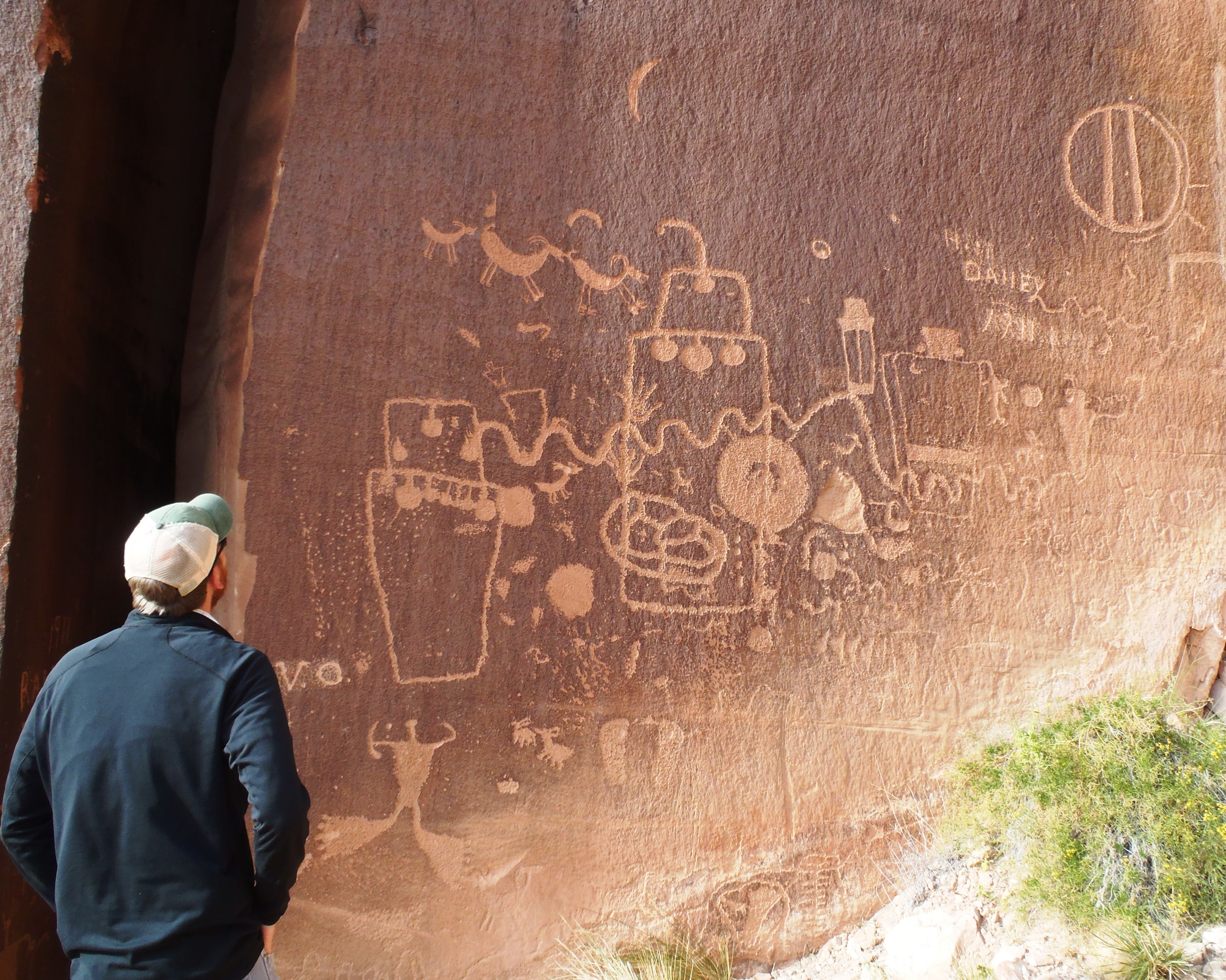 Indian creek petroglyphs san juan county ut rock art
