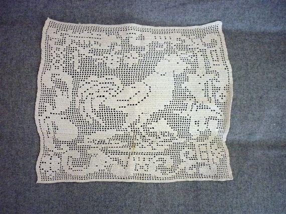 Vintage Crochet Rooster - filet crochet   Filet Crochet   Pinterest ...