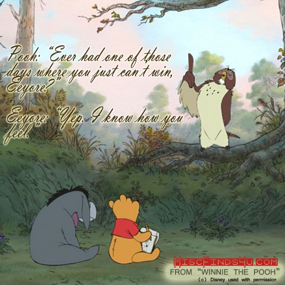 Winnie the Pooh Movie Quotes and Art   In Theaters July 15th     Winnie the Pooh Movie Quotes   One of those Days