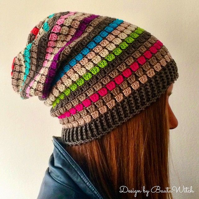 Slouchy Beanie By BautaWitch - Free Crochet Pattern - (bautawitch ...