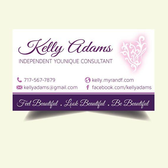 Carte De Visite Younique Business Cards Elegant Personalized