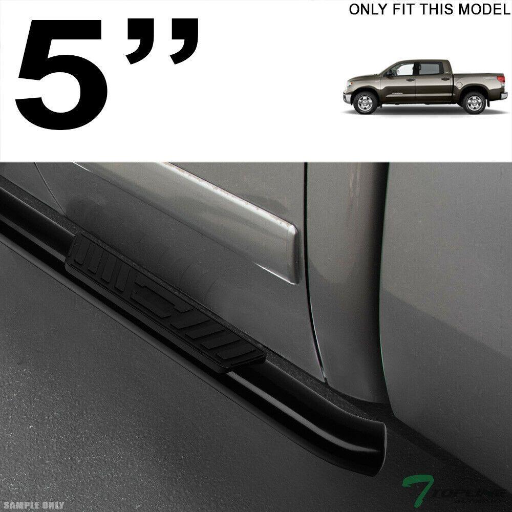 "5/"" OVAL BLK SIDE STEP NERF BARS RAIL RUNNING BOARD FOR 02-09 DODGE RAM QUAD//CREW"