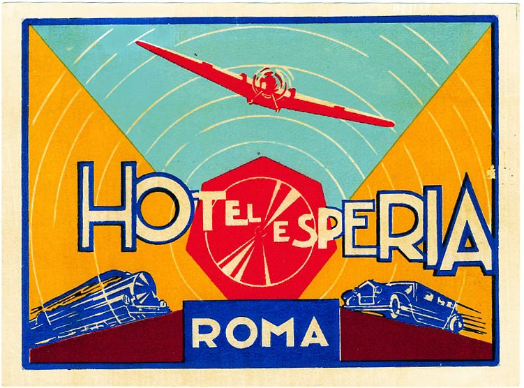SAN CANDIDO ITALY HOTEL POSTA VINTAGE DECO TRAVEL LUGGAGE LABEL