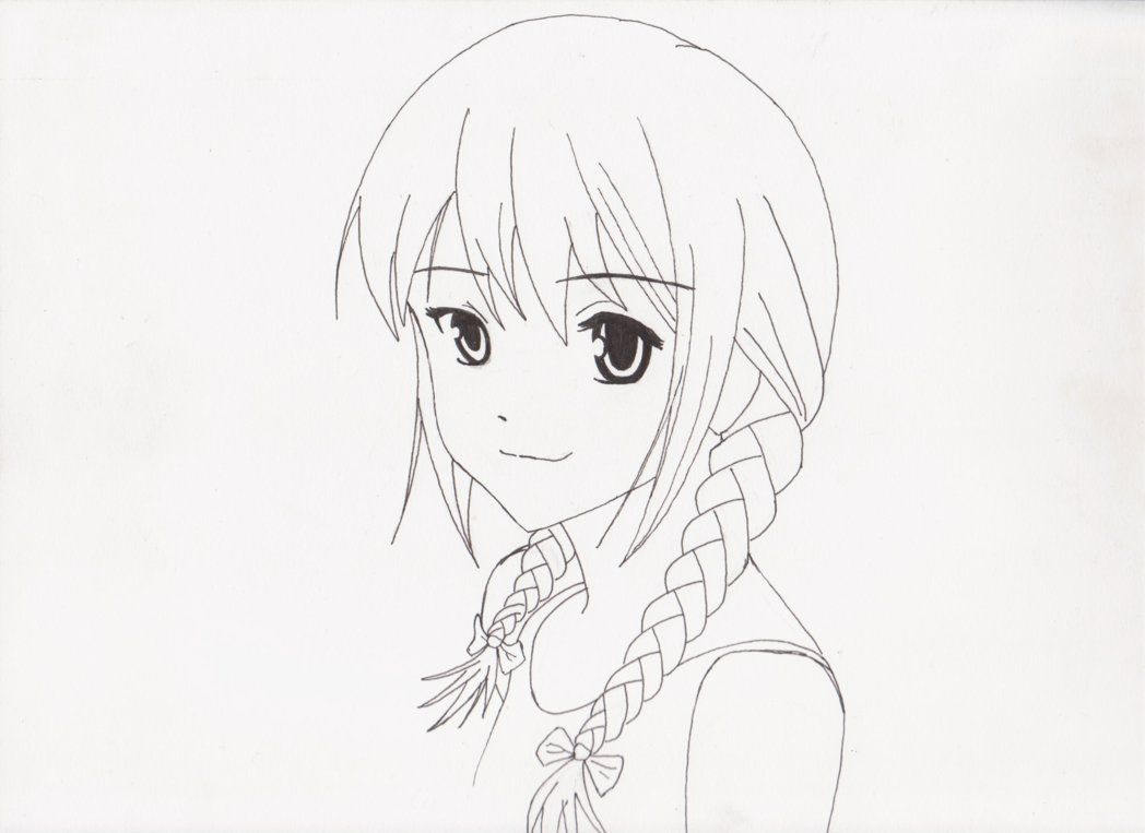Draw Anime Braids Braided Anime Girlmhylands On Deviantart Disegni Trecce