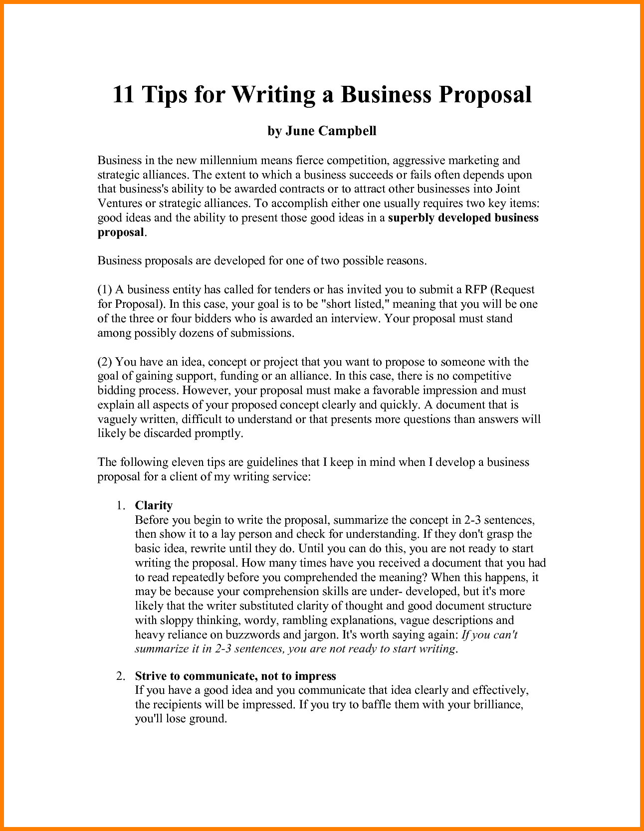 business proposal outline