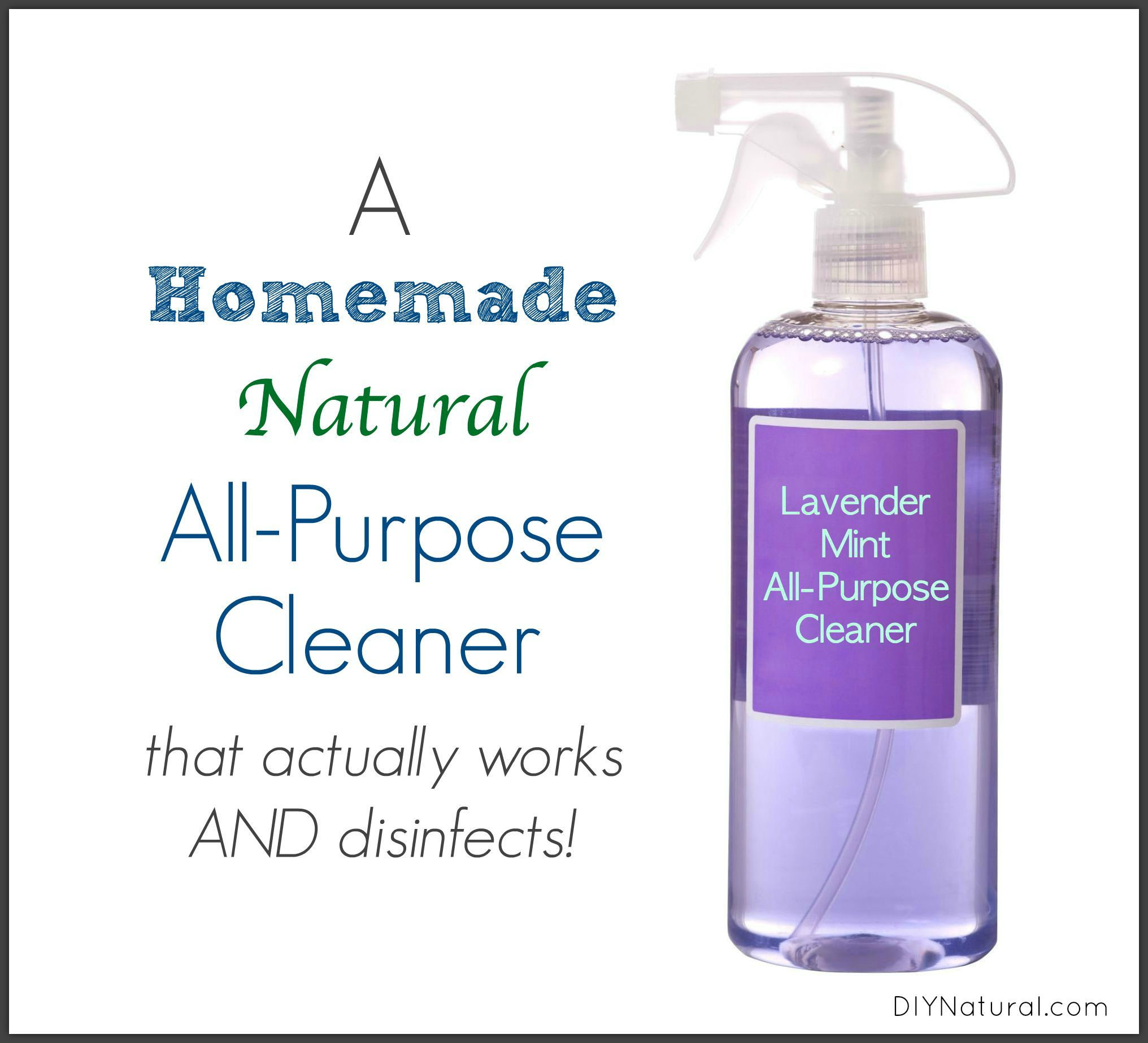 Homemade All Purpose Cleaner: Lavender Mint