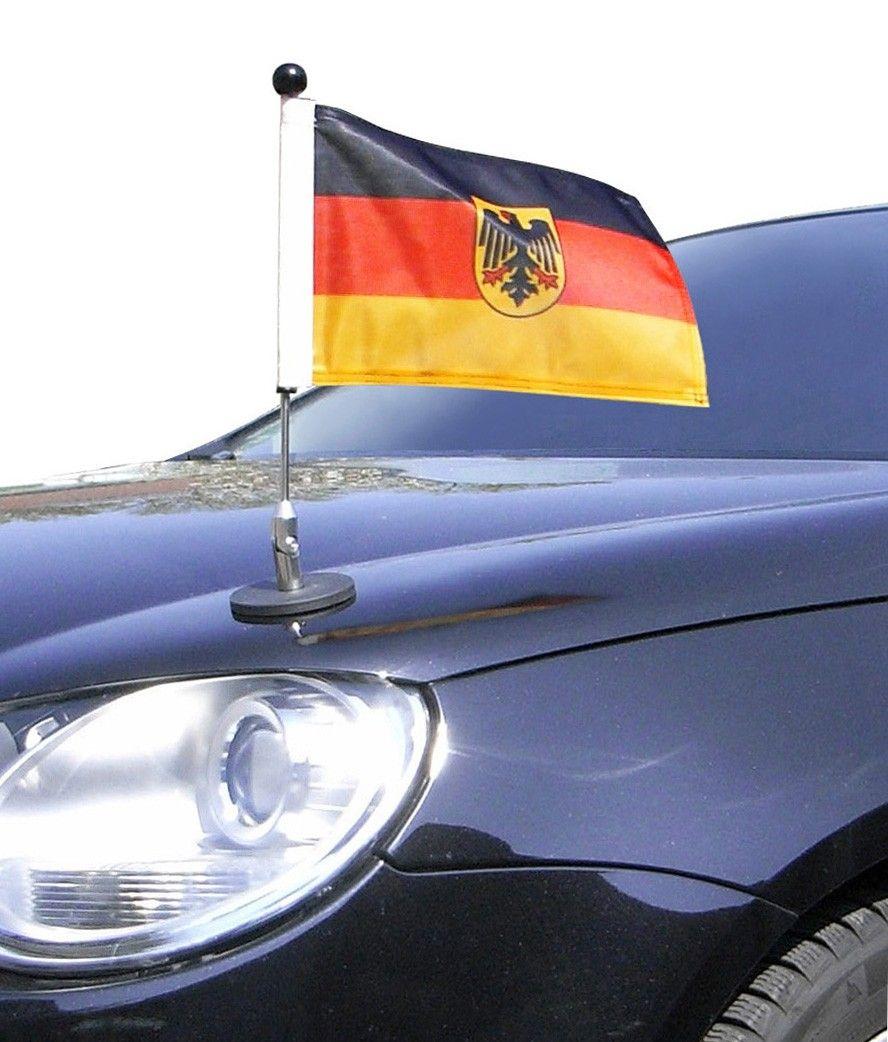 Magnetic Car Flag Pole Diplomat 1 Germany With Coat Of Arms Diplomat 1 De 30 Car Flags Flag Holder German Flag