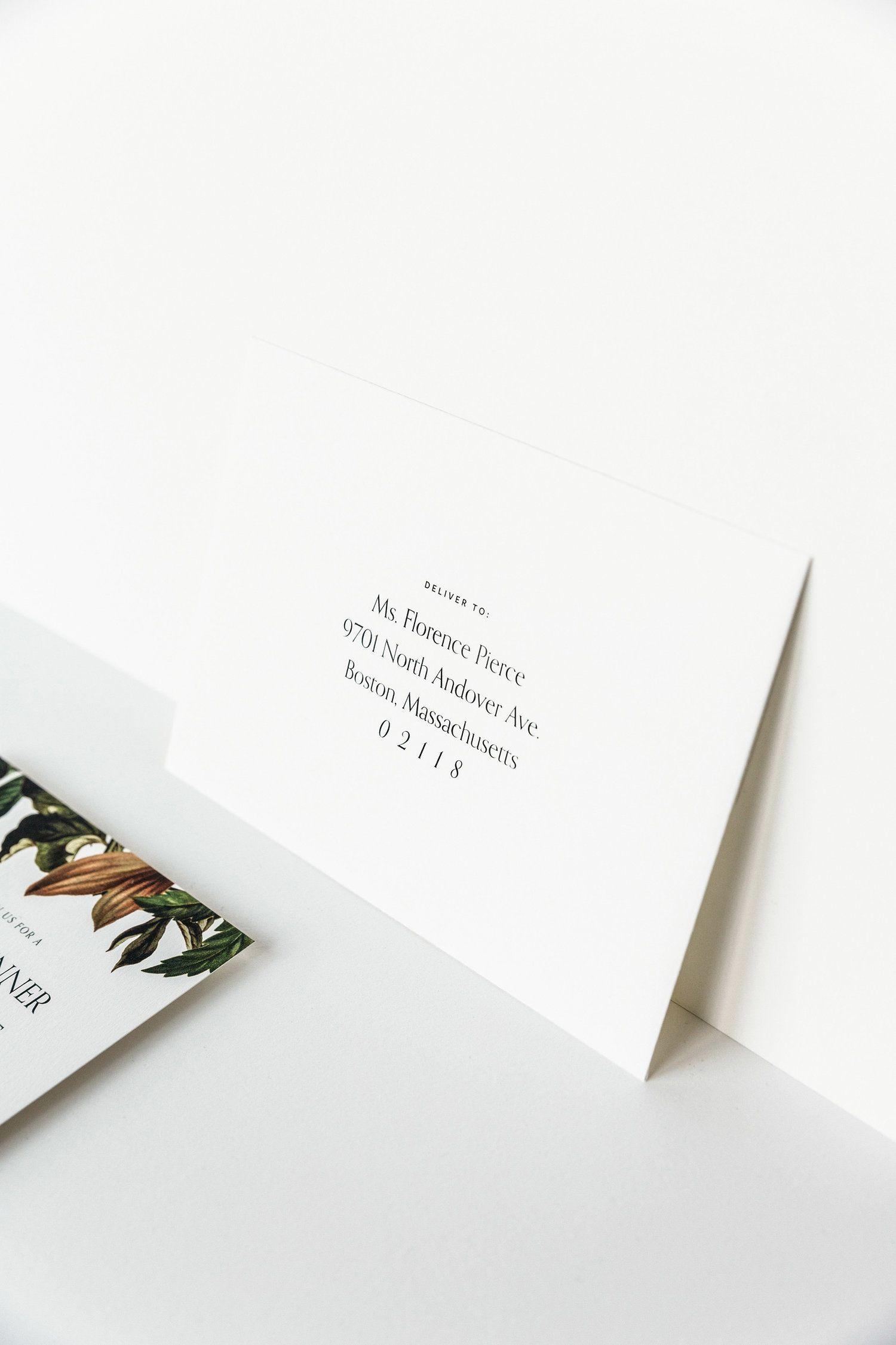 M. Poste Modern Envelope Addressing Addressing