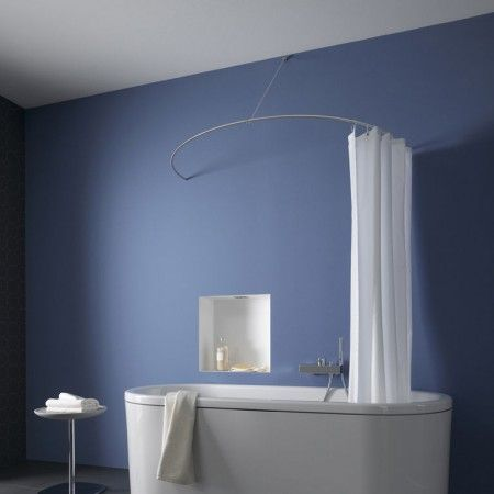 Curved Shower Curtain Rail Decoracion Banos Cortinas Decoracion De Unas