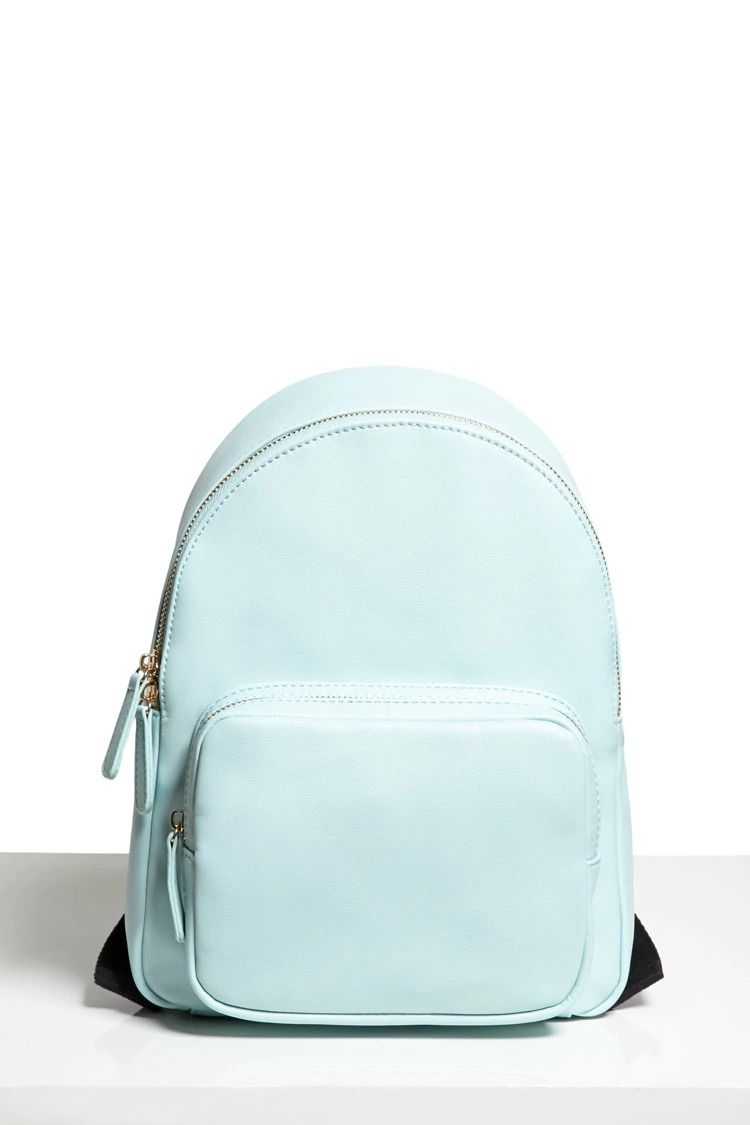 Faux Leather Mini Backpack  e179cd864d692