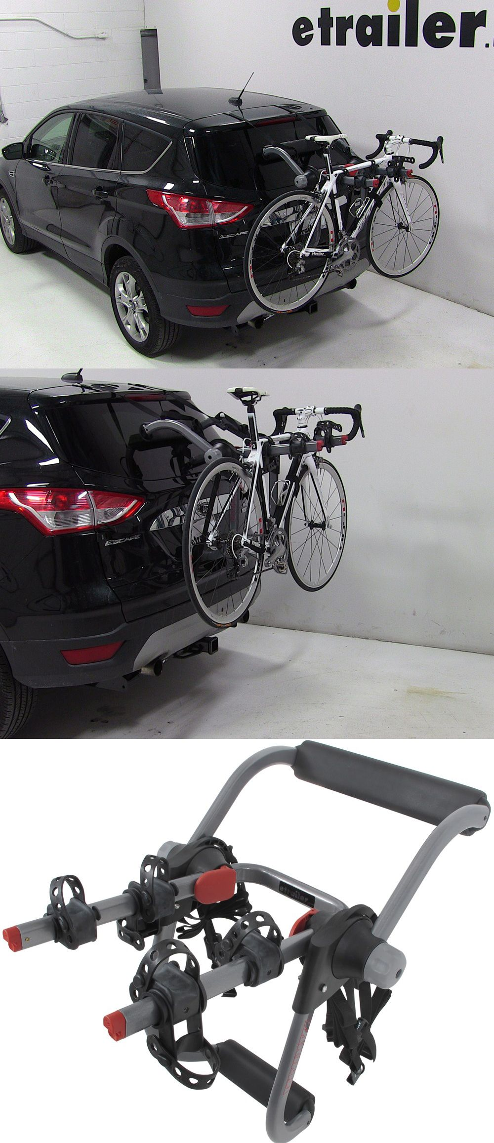 The yakima kingjoe pro 2 bike rack folding arms compatible with the ford escape