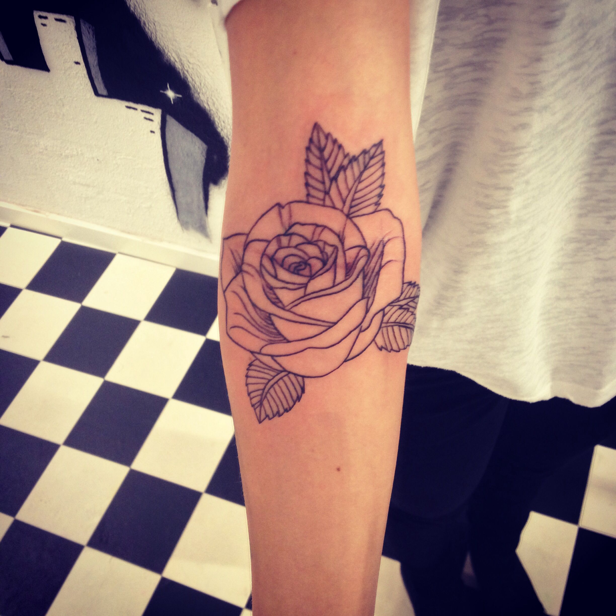 Tattoo Simple Rose: Design And Tattoo By Me. Simple Rose Tattoo