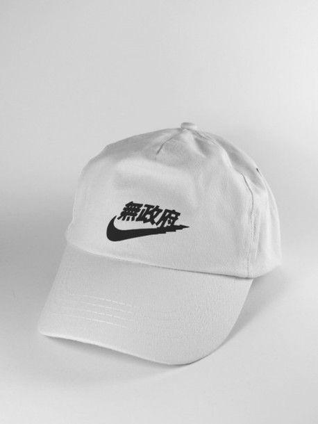 59cdffe42da hat rare nike air force japan japanese kanji nike swoosh baseball hat white  streetwear streetstyle nike rich swoosh street goth