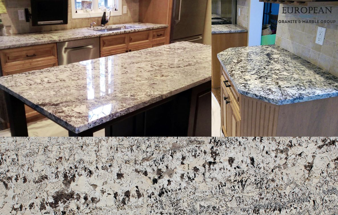 This Homely Kitchen Design Features White Persa Granite