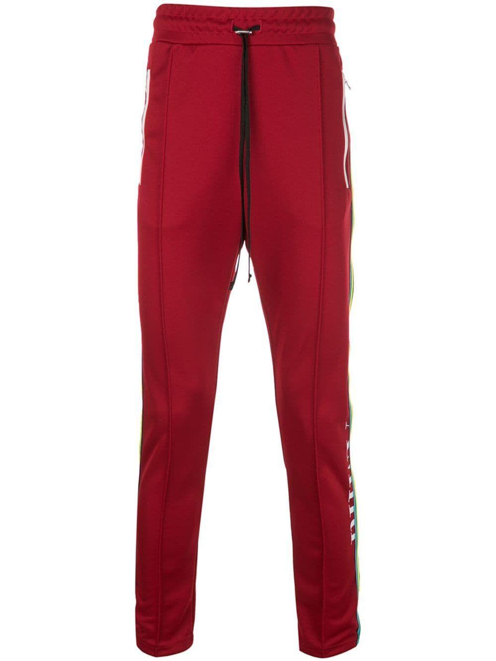 63c7fe45113c AMIRI AMIRI CONTRAST STRIPE TRACK PANTS - RED. #amiri #cloth | Amiri ...