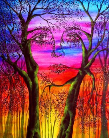 "Картина раскраска по номерам ""Девушка-природа"". Картина по ..."