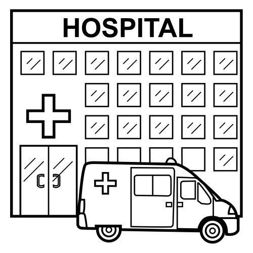 imagenes para colorear de un hospital - Buscar con Google | hospital ...