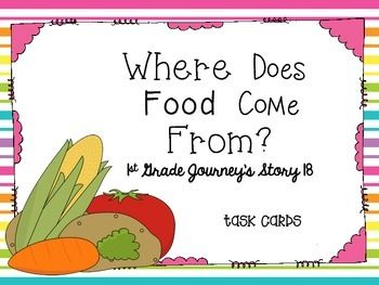 Journey's First Grade Lesson 18 Where Does Food Come From? | Food ...