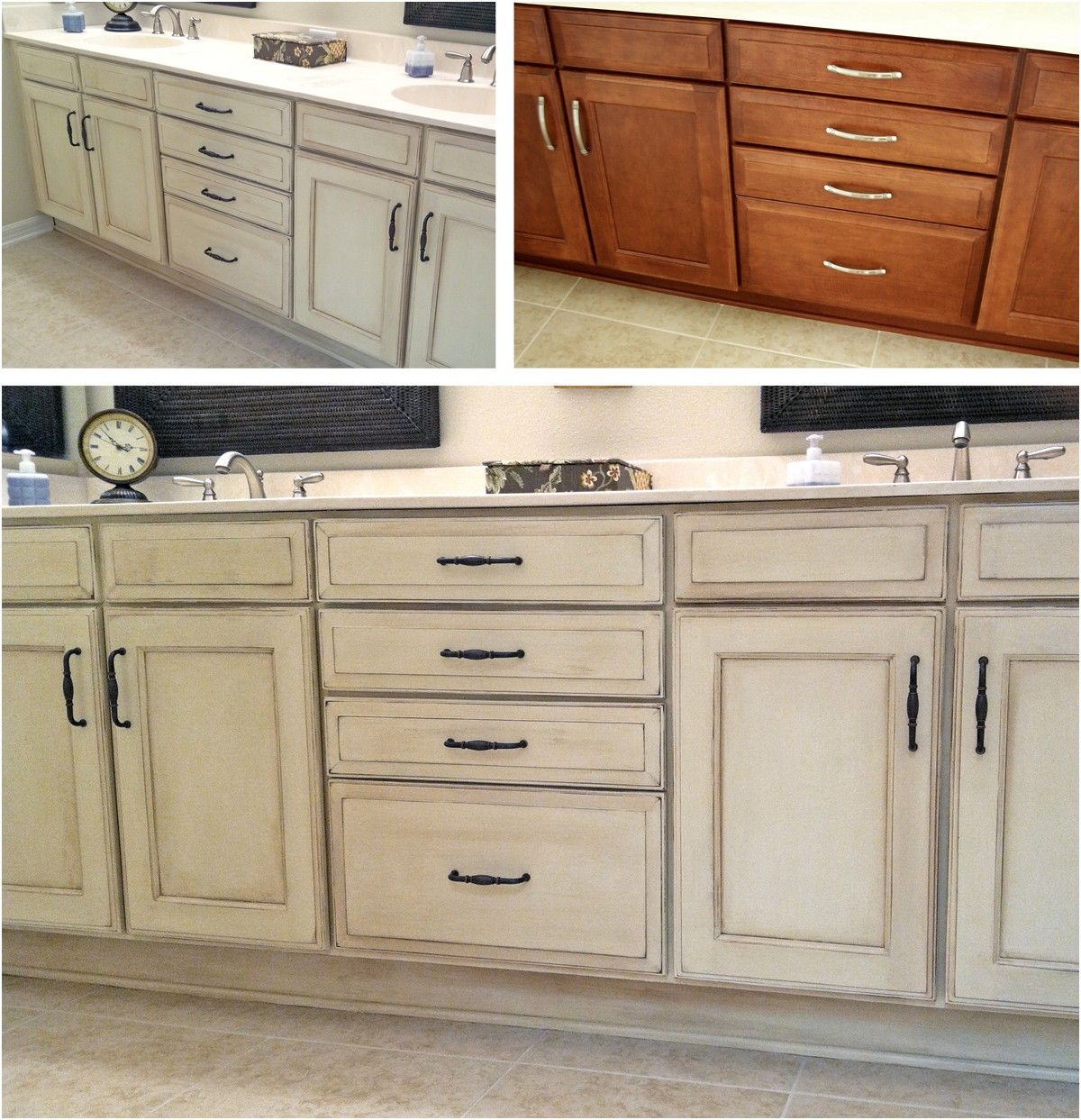 Bathroom vanity painted with Annie Sloan chalk paint first coat from ...
