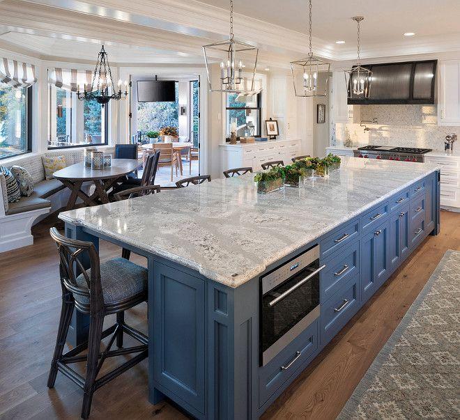 Kitchen Island Blue Kitchen Island With Cambria Quartz Countertop Kitchenisland Bluekitchenisland Ca Kitchen Interior Interior Design Kitchen Kitchen Design