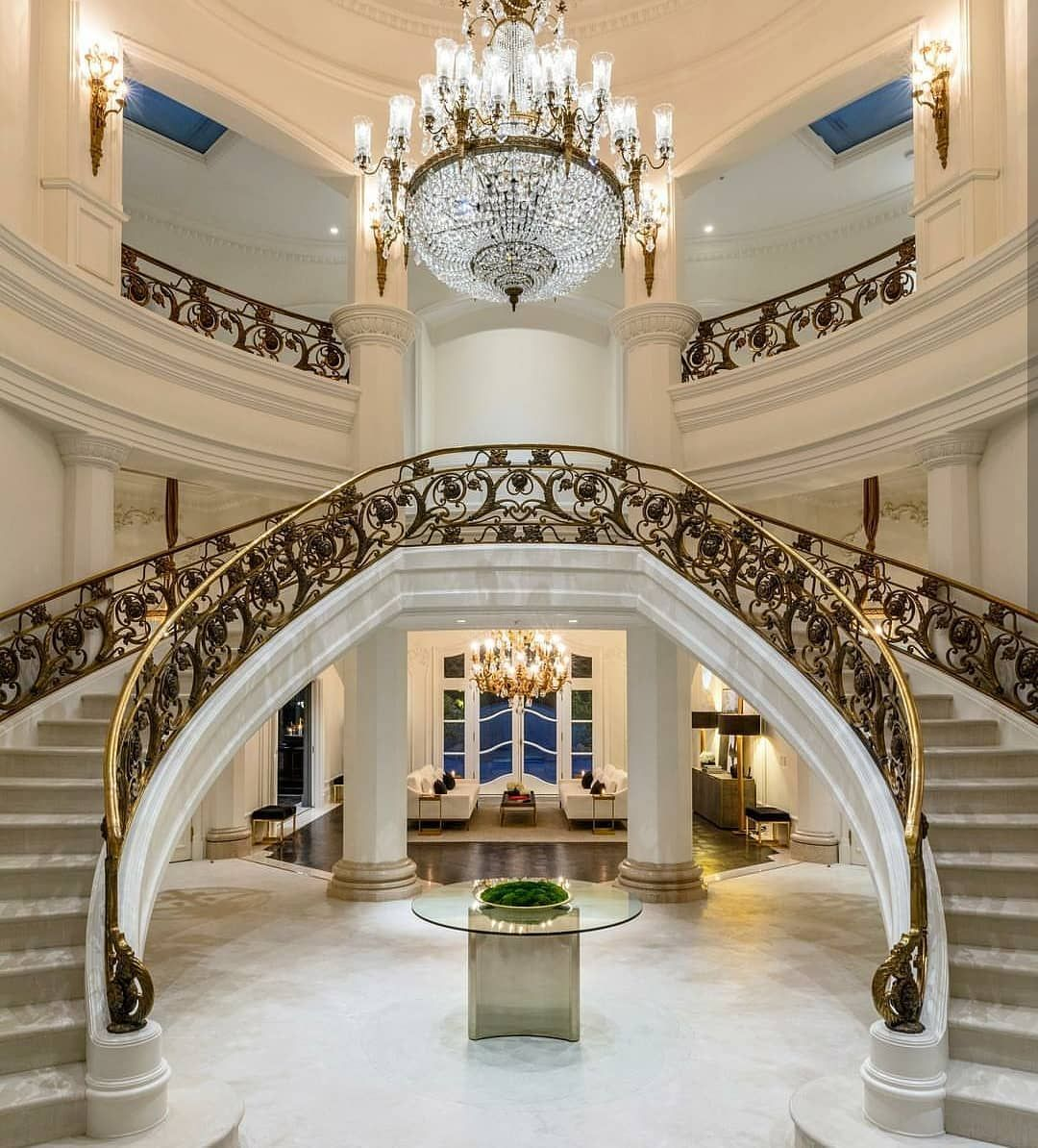 Best Grand Double Staircase In A Beverly Hills Mansion Foyer 400 x 300