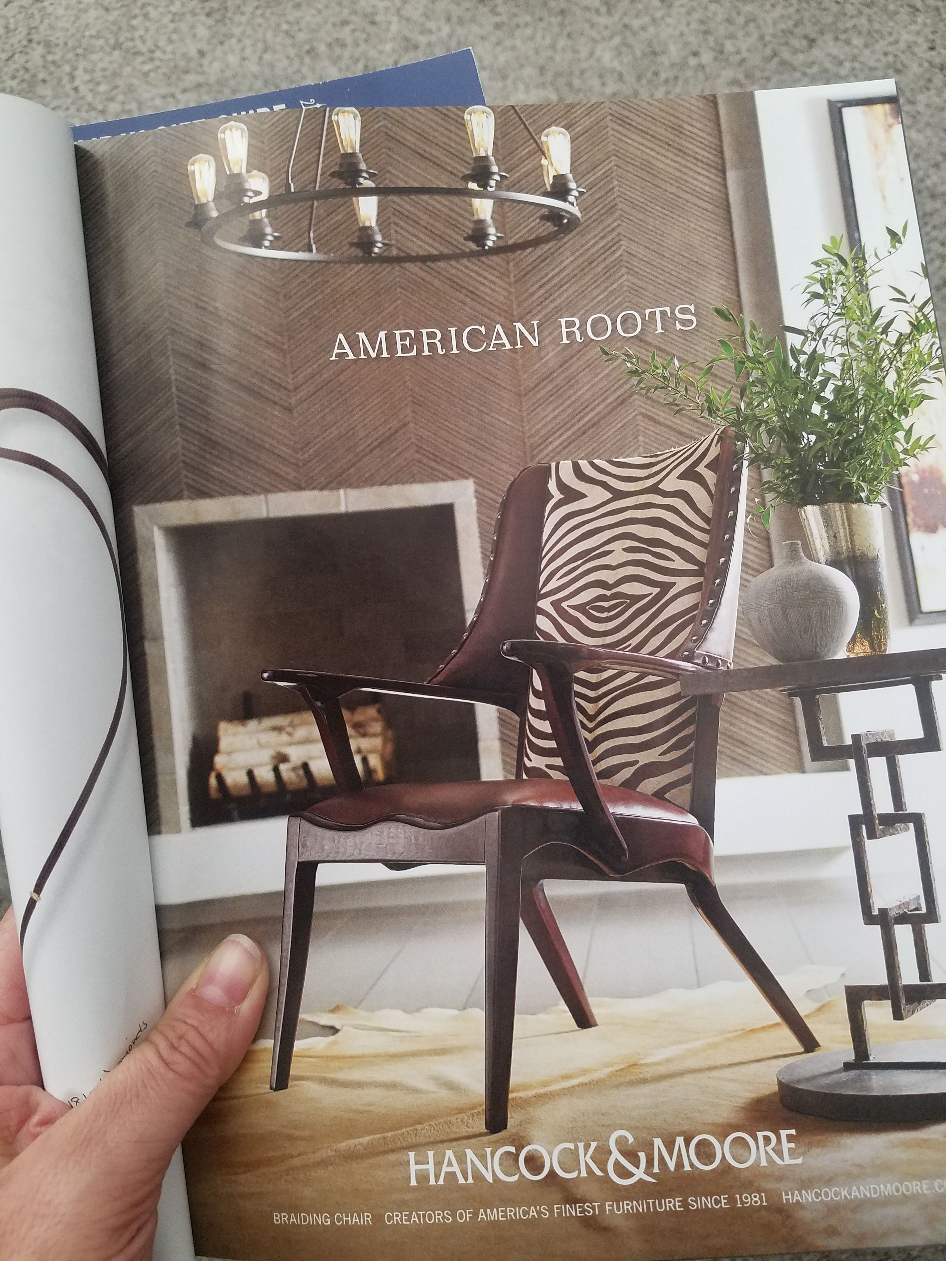 Chair Design Brands Swing For Office Our Are Featured In The Finest Magazines Hancock Moore Your Own With Ennis Fine Furniture Boise Spokane Reno Richland