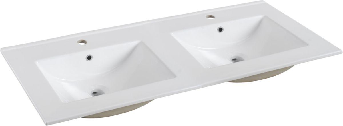 Plan De Toilette Concerto2 En Ceramique 120 Cm Double Vasque Double Vasque Vasque Plan Vasque