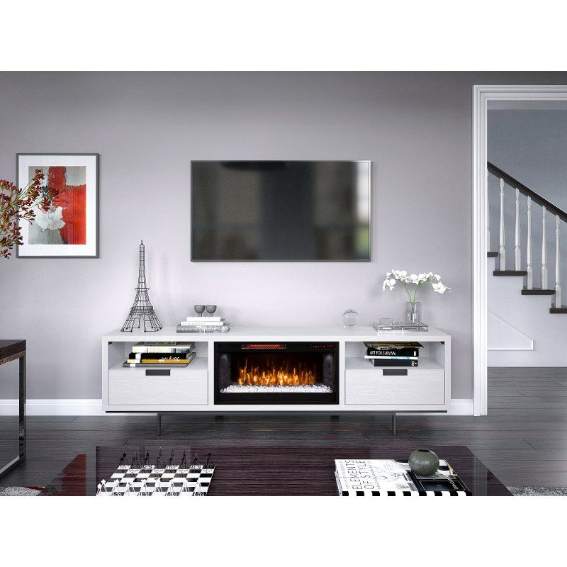 78 Inch White Fireplace Tv Stand Wynwood In 2020 Fireplace Tv