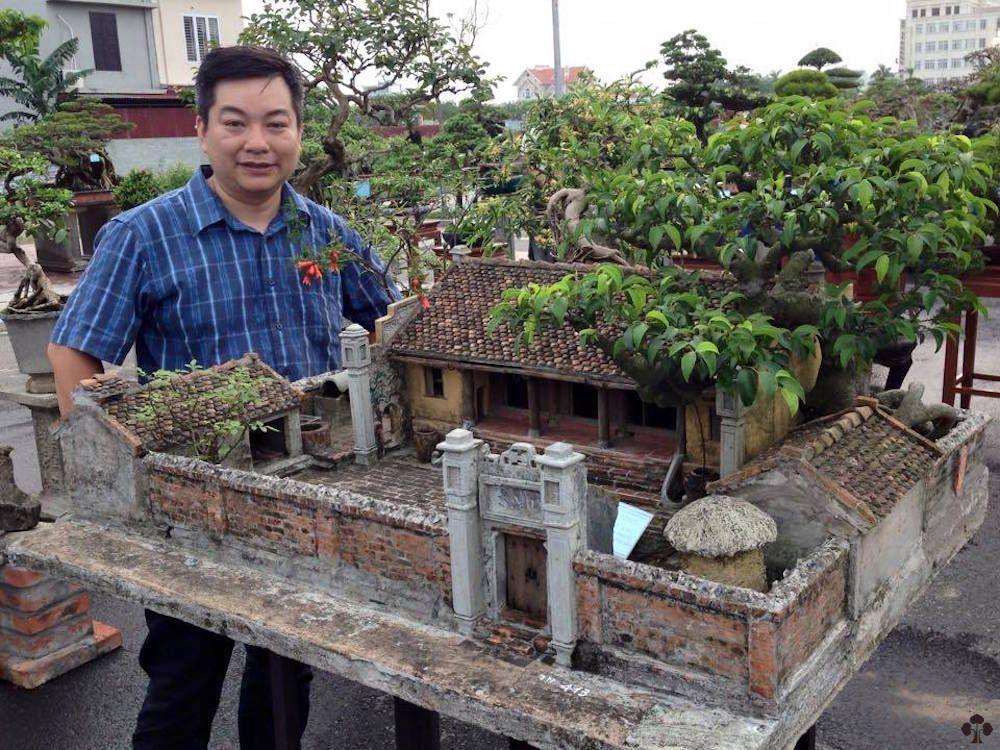 Miniature Vietnamese Farmhouse landscape
