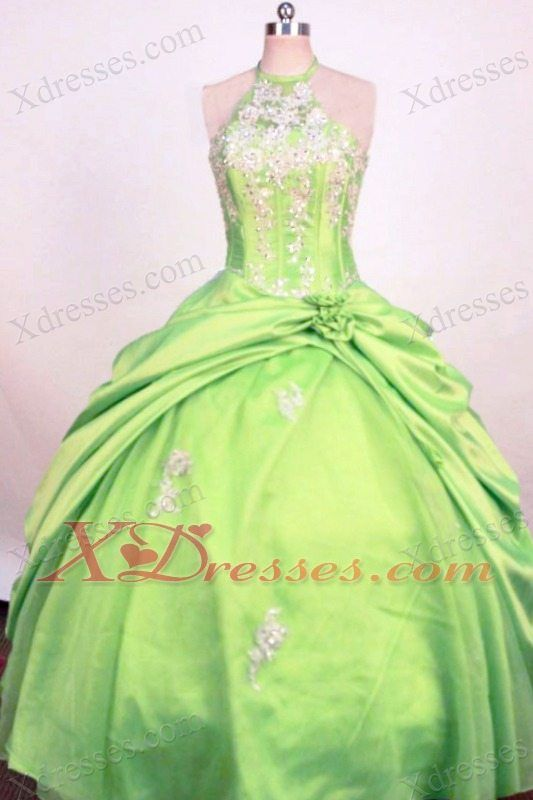 Fashionable Spring Green Ball Gown Little Girl Pageant Dress  993bd7d17