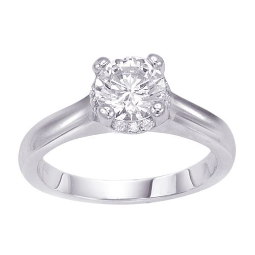 Fred Meyer Jewelers 1 110 ct tw Certified Diamond Engagement