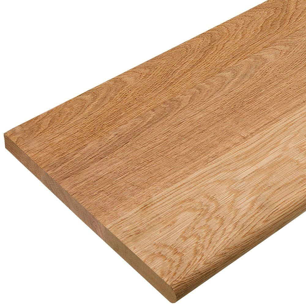 36 In X 11 1 2 In Unfinished Solid Red Oak Stair Tread 8430r 036 0000l The Home Depot In 2020 Oak Stairs Stair Treads Red Oak Hardwood