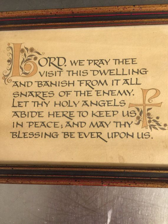 Vintage Home Blessing Wall Art Framed Religious Prayer ...