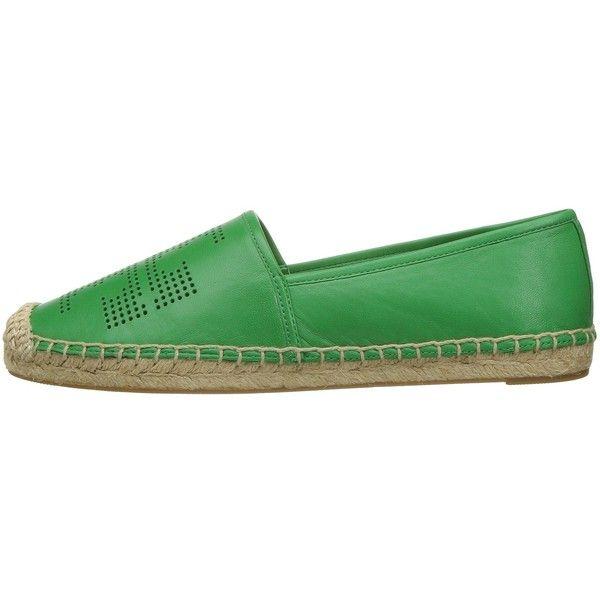 Tory Burch Perf Logo Espadrille (Court Green) Women's Shoes (35 KWD) ❤