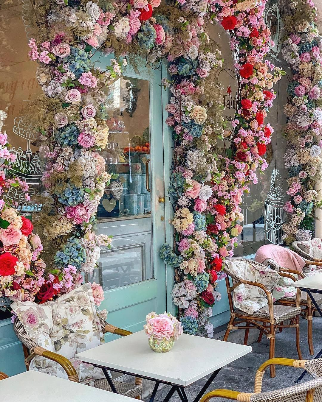New] The 10 Best Travel (with Pictures) - #floral #coffee #shops #cafeinteriors #floral #cafe #cafe… | Flower iphone wallpaper, Shop vintage decor, Pretty flowers